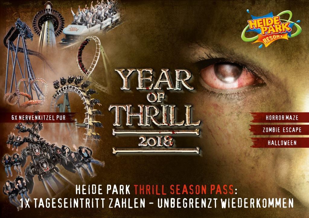 Year of Thrill - exklusive Extras für Thrillseeker mit Thrill Season Pass Foto: Heide Park Resort, 2018