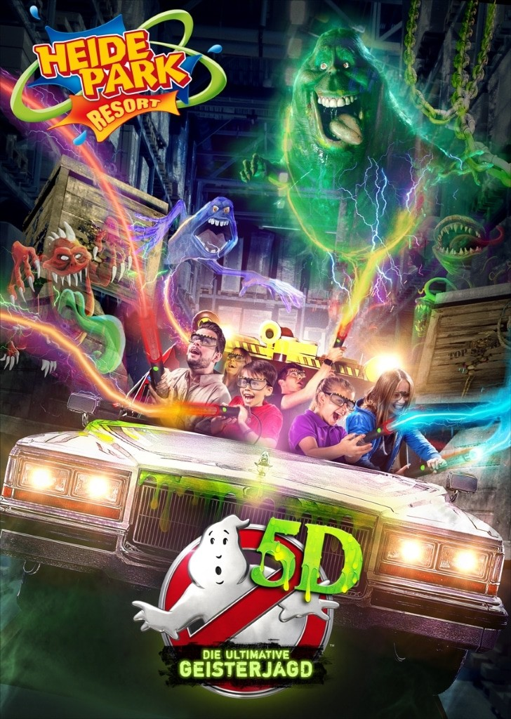 Visual Ghostbusters 5D - Die ultimative Geisterjagd Foto: Heide Park Resort, 2017 TM & © 2017 Columbia Pictures Industries, Inc. All Rights Reserved