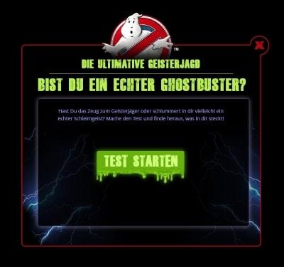 Startseite Online-Charaktertest für Geisterjäger Foto: Heide Park Resort, 2017