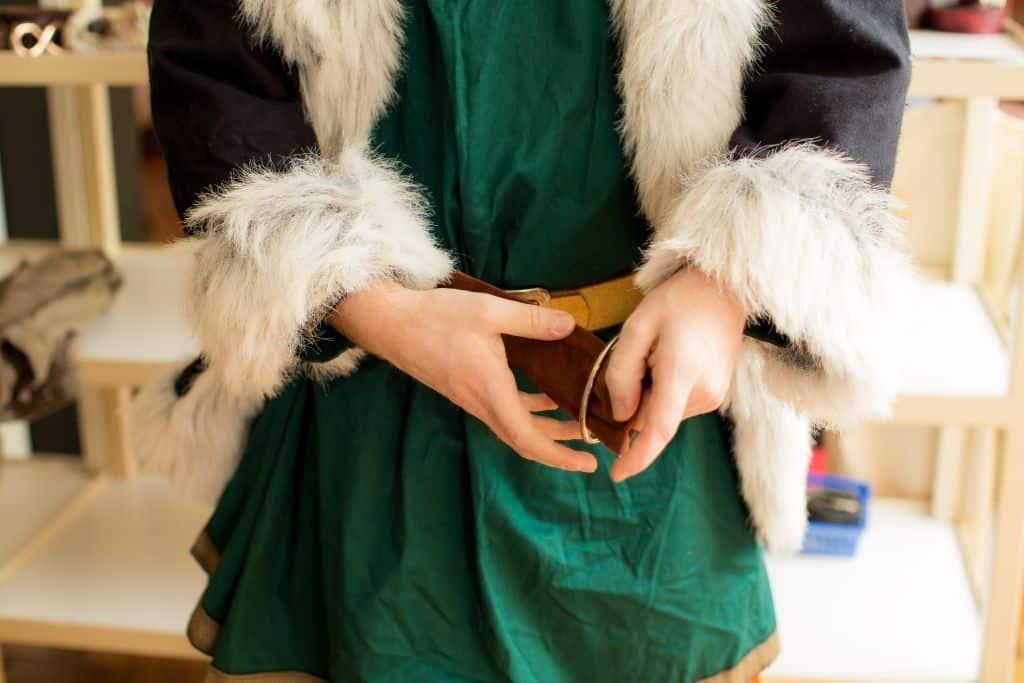 Wikinger-Kostüm, Teilansicht. Foto: Heide Park Resort, 2016