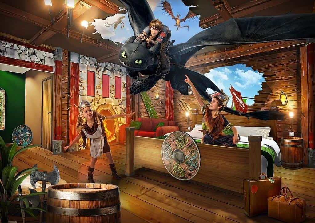 Innenansicht Drachenzähmen - Das Zimmer im Heide Park Abenteuerhotel, Bild Heide Park Resort 2016