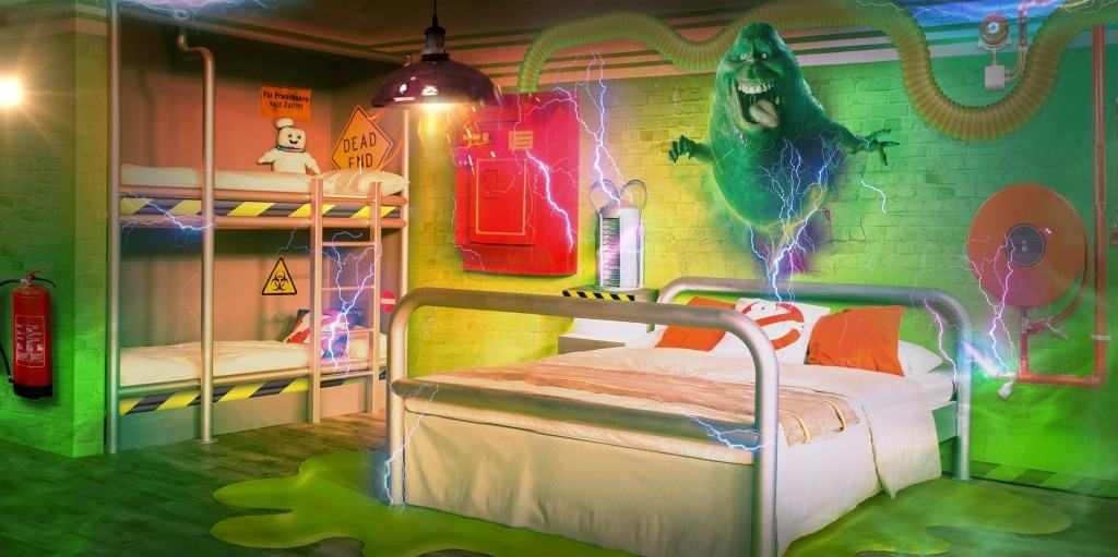 Ghostbusterszimmer im Abenteuerhotel im Heide Park Resort Foto: Heide Park Resort 2017