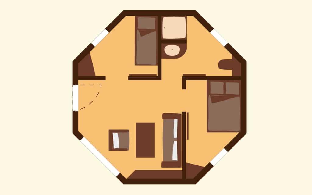 Grundriss einer Jambo-Lodge Foto: Serengeti-Park Hodenhagen