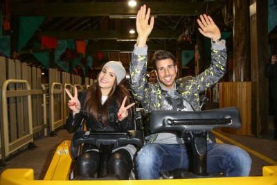 Jubiläumsfahrt Colossos mit Angelina Heger und Leonard Freier Foto: Heide Park Resort, 2016