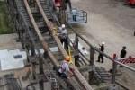Baustart Colossos– Der Rückbau der Schienen hat begonnen