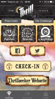 Thrillseeker App Heide Park Soltau