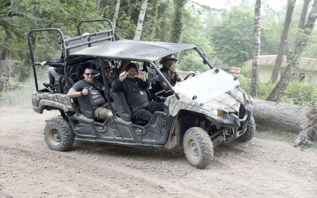 """""""Schrottplatzbruder"""" Peter Ludolf hat den Parcours der neuen Quad-Safari getestet! Foto: Serengeti-Park Hodenhagen"""