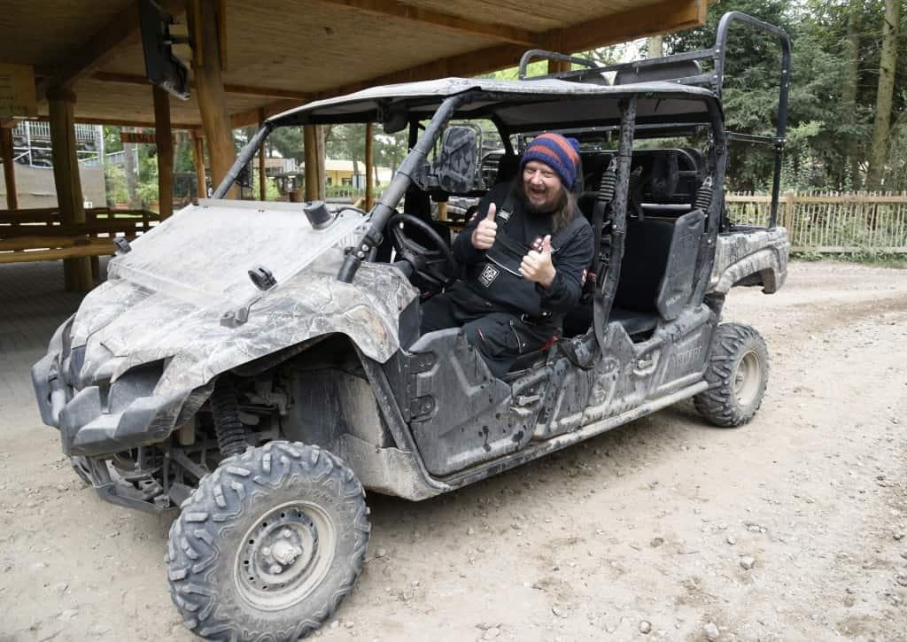War begeistert von der neuen Quad-Safari: Schauspieler Peter Ludolf. Foto: Serengeti-Park Hodenhagen
