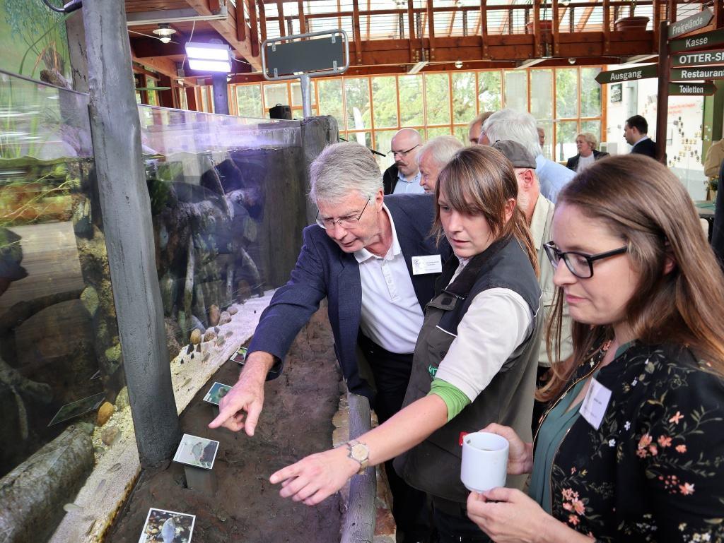 Eröffnung des neuen Fluss-Aquariums im OTTER-ZENTRUM in Hankensbüttel © Aktion Fischotterschutz e.V.