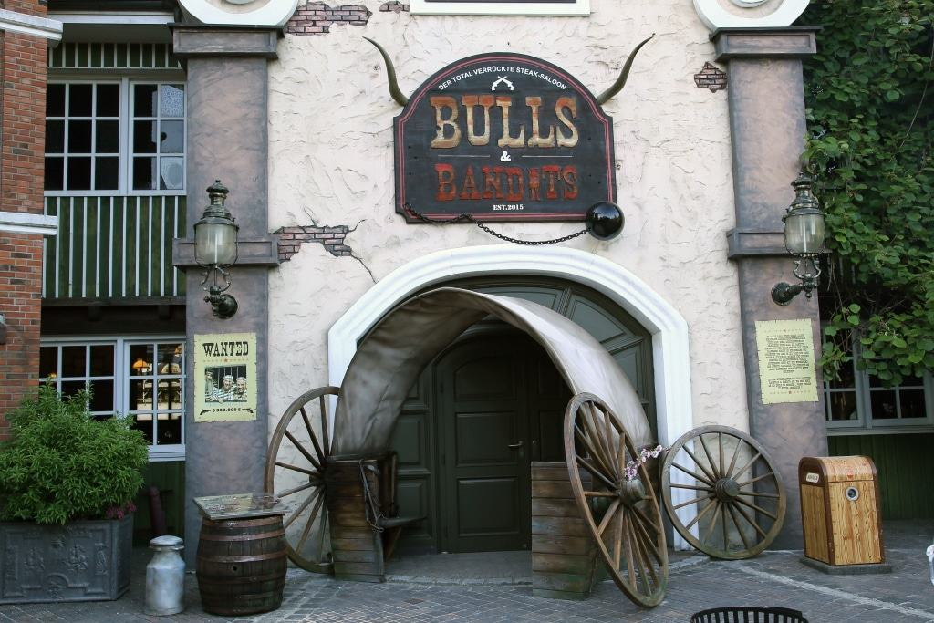 Das Westernrestaurant Bulls & Bandits Foto: Heide Park Resort, 2017