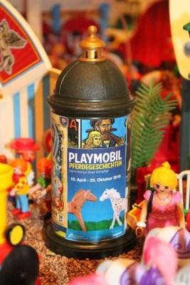 Blick in die Zirkus-Landschaft der Ausstellung Playmobil-Pferdegeschichten 2016