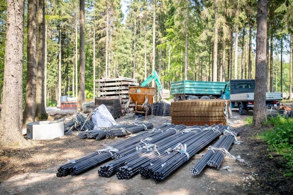 Bis zu 130 Tonnen Bewehrungsstahl werden am Ende im gesamten Projekt verbaut sein. Foto: Thomas Ix