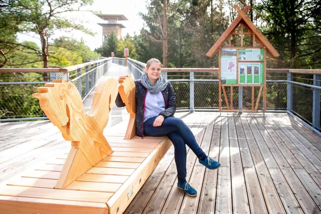 """Der Baumwipfelpfad """"Heide-Himmel"""" bietet ganz neue Aus- und Einblicke in die Natur der Lüneburger Heide. Foto: Wildpark/Thomas Ix"""