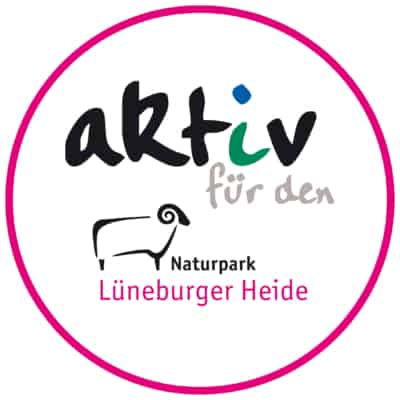 "Partner-Logo ""Aktiv für den Naturpark"" des Naturparks Lüneburger Heide"