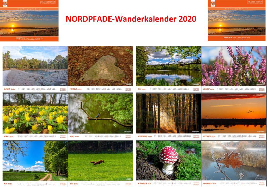 NORDPFADE Wanderkalender 2020