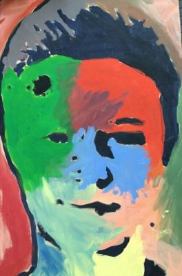 Jones Claas (geb. 2002) Ich, Malerei, 97 x 58 cm, Liebfrauenschule, Oldenburg