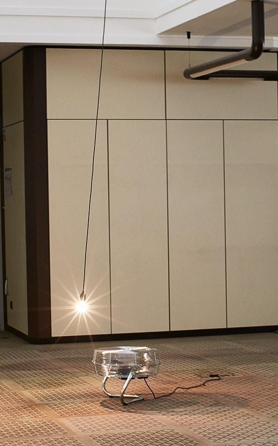 """Thomas Reul, Lichtkreis, 2016 / 2013, Lichtinstallation, Teil der Werkgruppe """"Die Welt als Konzentration rückkoppelnder Empfindungen""""  Foto: Thomas Reul"""