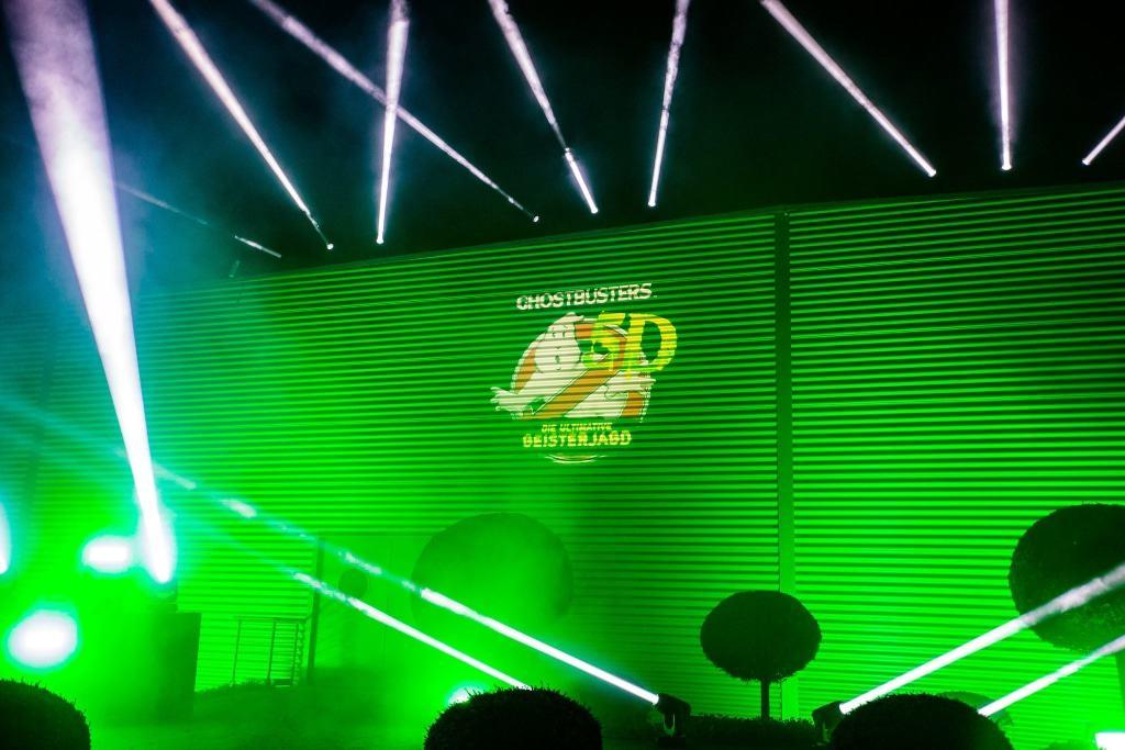 Enthüllung des Logos der neuen Attraktion 2017 Ghostbusters 5D bei der Bekanntgabe am 14. Oktober 2016. Foto: Heide Park Resort, 2016