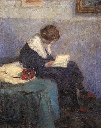 Maria Slavon, Lilly lesend, 1902 - 1905 Privatbesitz Foto: Kunststätte Bossard
