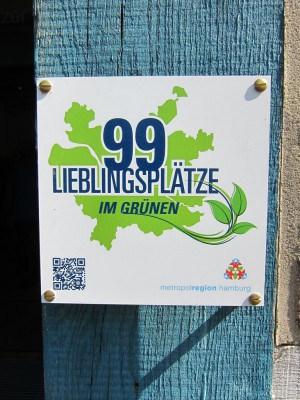 Plakette 99 Lieblingsplätze im Grünen Metropolregion Hamburg