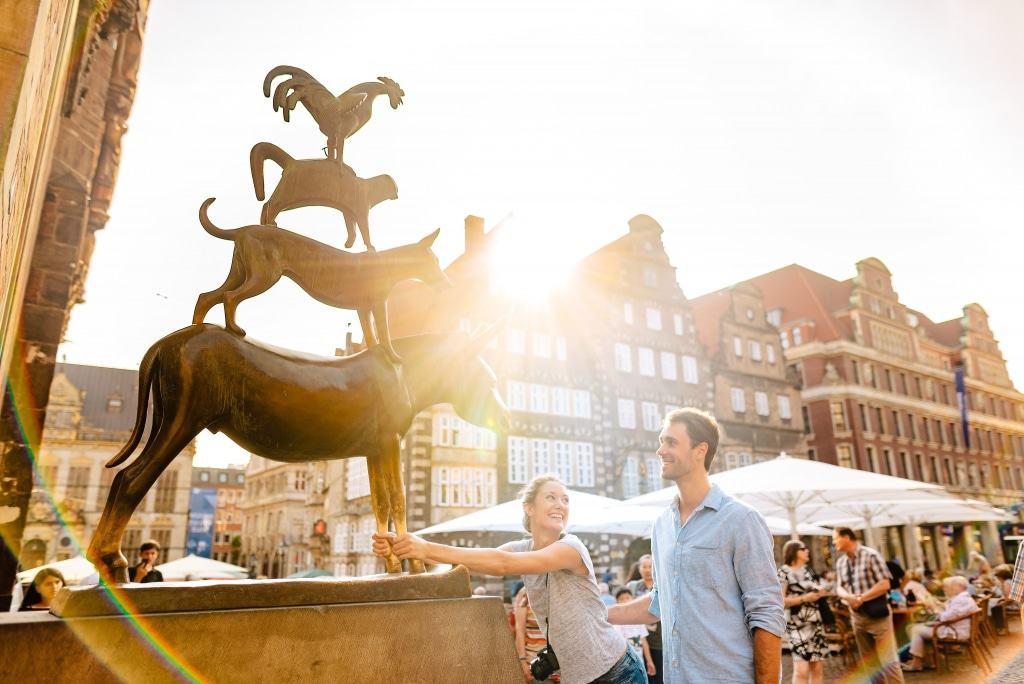 Vier gewinnt: Die Sonderausstellung in der Kunsthalle beschäftigt sich mit den Bremer Stadtmusikanten. Foto: Jonas Ginter | BTZ Bremer Tourismus Zentrale