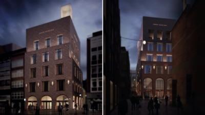 Visualisierung des neuen Johann Jacobs Hauses mit Kaffee- akademie im Herzen von Bremen. Copyright: Johann Jacobs Kaffee Akademie GmbH