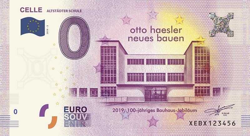 Den neuen 0-Euro-Schein für Celle ziert die berühmte Altstädter Schule © CTM GmbH