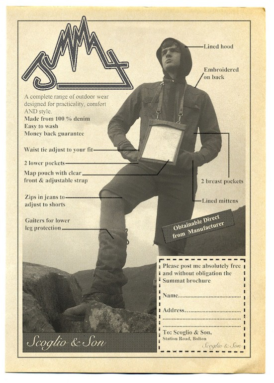 R. Chesney, Death by Denim (Summat advertisement in the spring issue of Rural Life Magazine 1973), 2015.