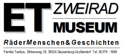 Logo ET-Zweiradmuseum Sassenburg-Grußendorf, Kreis Gifhorn