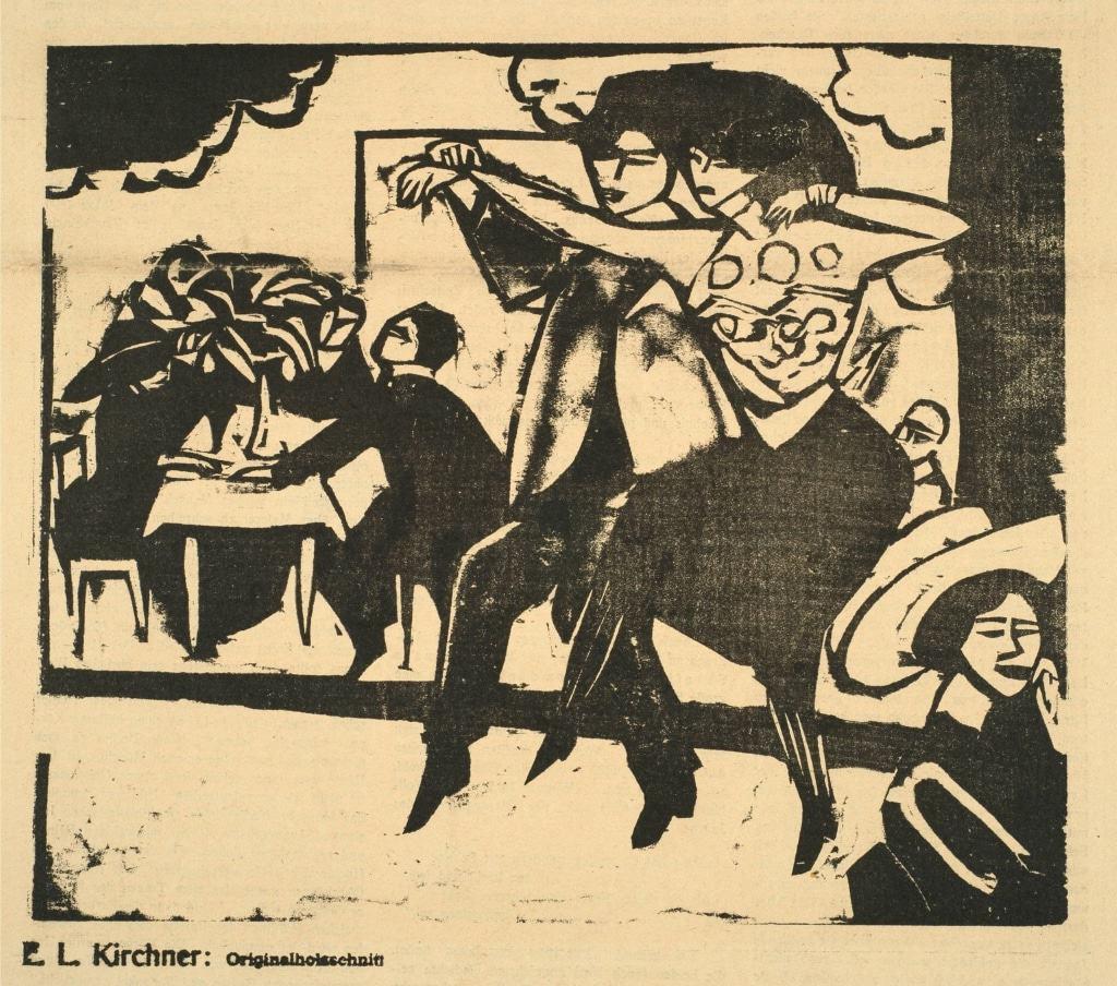 Ernst Ludwig Kirchner: Tanzlokal, 1911, Sammlung Hierling, Foto: Joseph Hierling