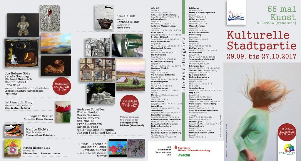 Flyer Kulturelle Stadtpartie Lüchow 2017 Titelseite
