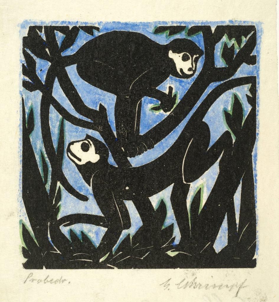 Georg Schrimpf: Affen, 1921 © Sammlung Joseph Hierling