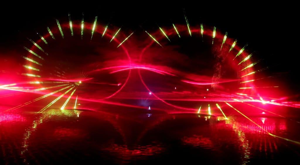 """^Einer der großen Höhepunkte der Heideblütenfestwoche 2018 wird die Auftaktveranstaltung """"Der See brennt""""  am  Lopausee mit einer spektakulären Lasershow und Live-Musik sein. (Foto: bocatec)"""