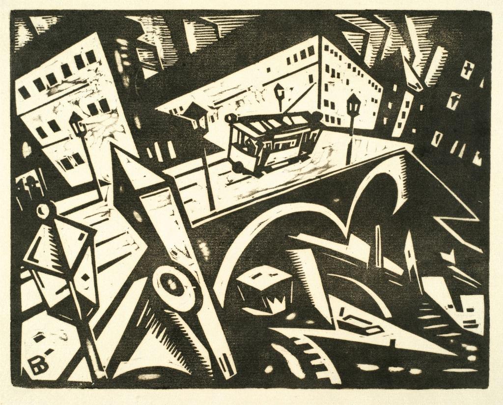 Hanns Bolz: o.T. (Stadtbrücke), 1912 © Sammlung Joseph Hierling