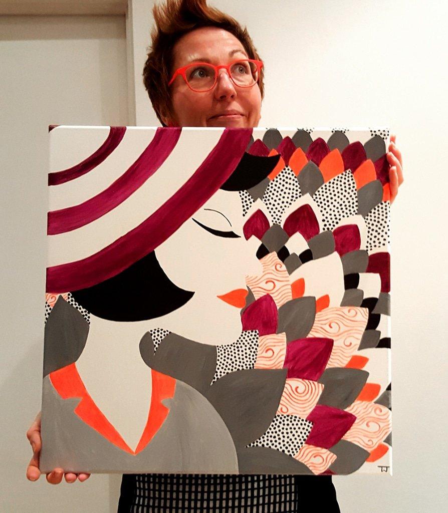 Die Künstlerin Tina Wahren