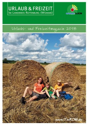 Cover des neuen URLAUB- &FREIZEITkatalog 2018 für den Landkreis Rotenburg (Wümme) © TouROW