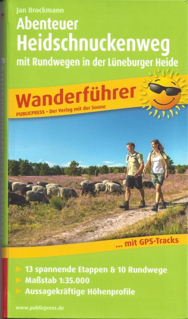 """Cover Wanderführer """"Abenteuer Heidschnuckenweg"""" von Jan Brockmann, ISBN 987-3899208467"""