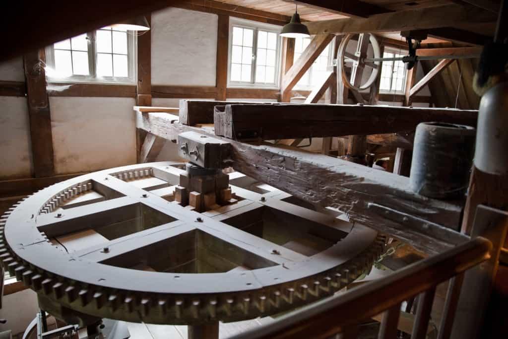 Alte Mühlentechnik im Mühlenmuseum Moisburg, Bild: FLMK