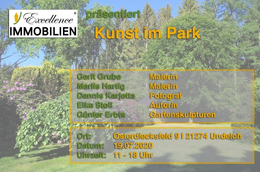 """Ankündigung """"Kunst im Park"""" in Undeloh am 19.07.2020"""