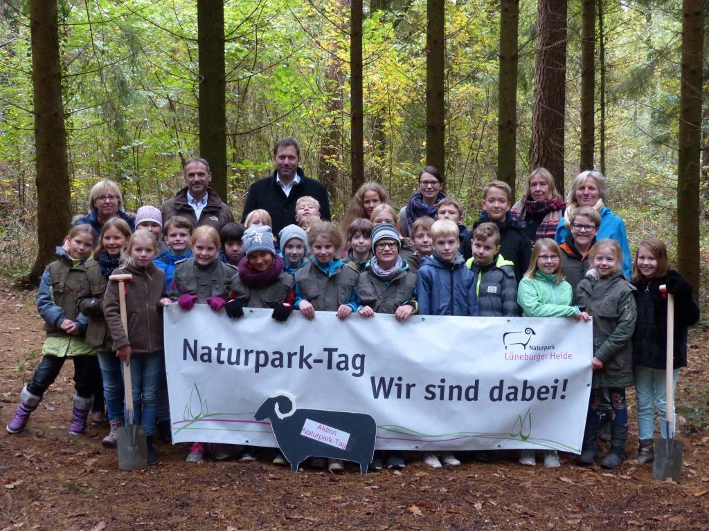 Die Auftaktveranstaltung zum Naturpark-Tag 2018 fand an der Naturpark-Schule GOBS Neuenkirchen im Heidekreis statt. Foto: Naturparkregion Lüneburger Heide