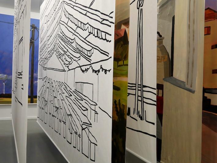 """Aus der neuen Ausstellung """"Eichen und Buchen treten auf"""", Foto: Kunstverein Springhornhof, Neuenkirchen"""