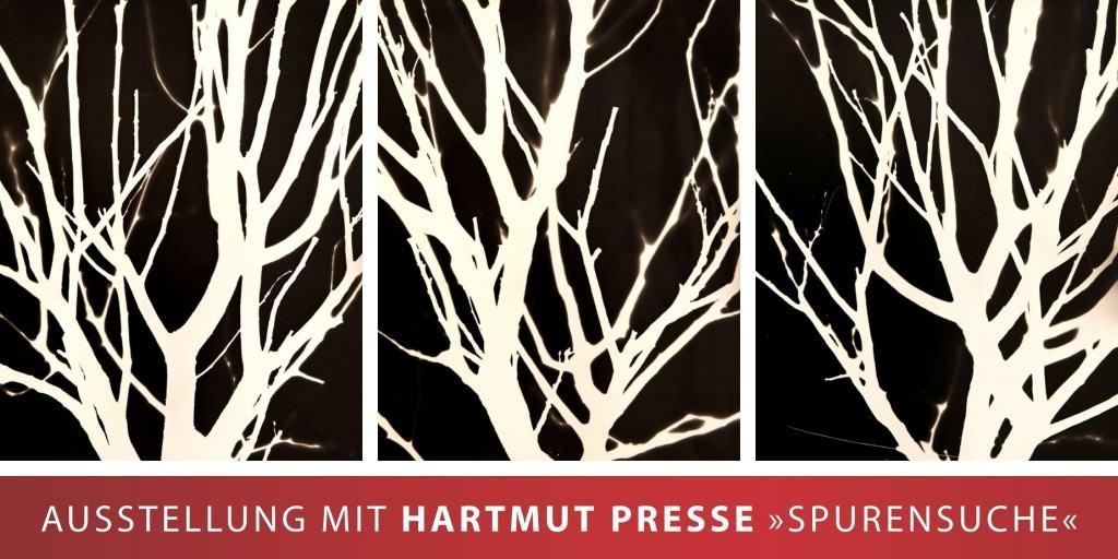 """Cover der Einladung zur Ausstellung """"Spurensuche"""" von Hartmut Presse KunstRaum Schneverdingen"""