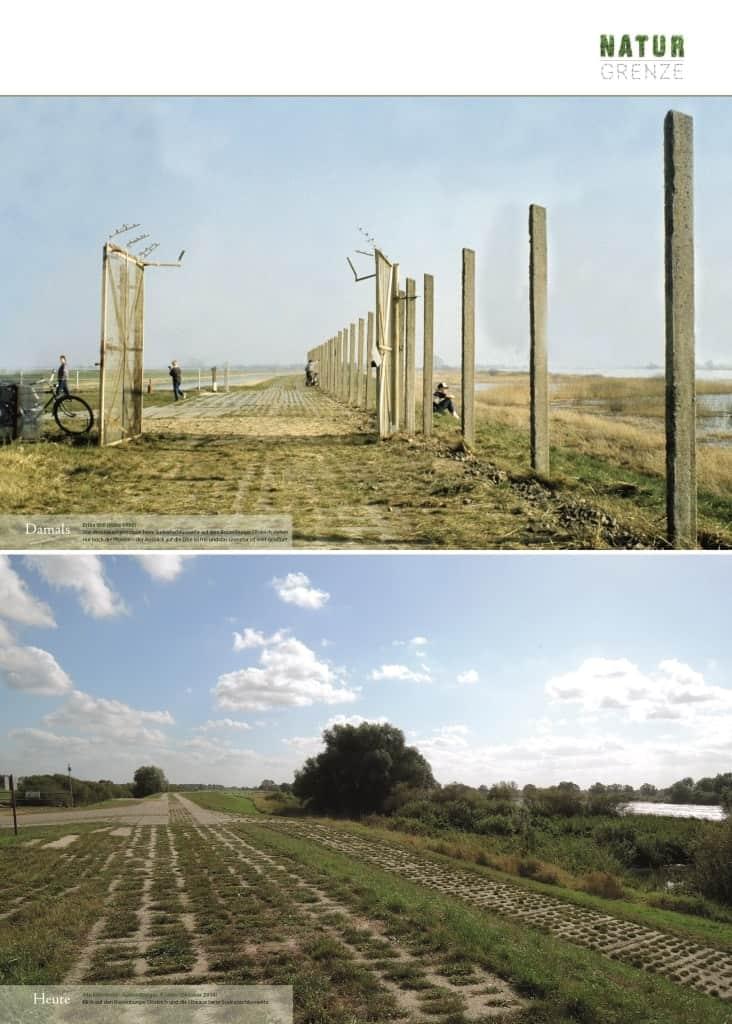 Gegenüberstellung Elbdeich bei Boizenburg damals und heute nach 25 Jahren