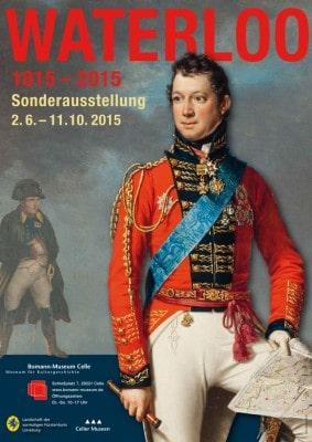 Ausstellungplakat Sonderausstellung Waterloo im Bomann-Museum in Celle