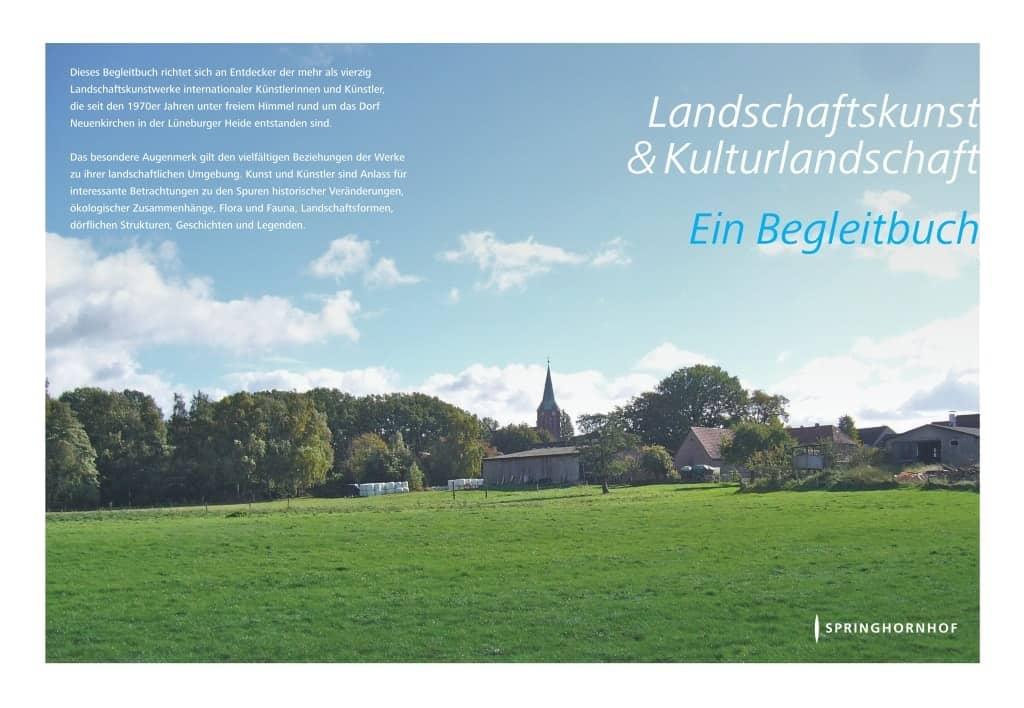"""Cover """"Begleithandbuch Landschaftskunst & Kulturlandschaft"""" Springhornhof, Neuenkirchen"""