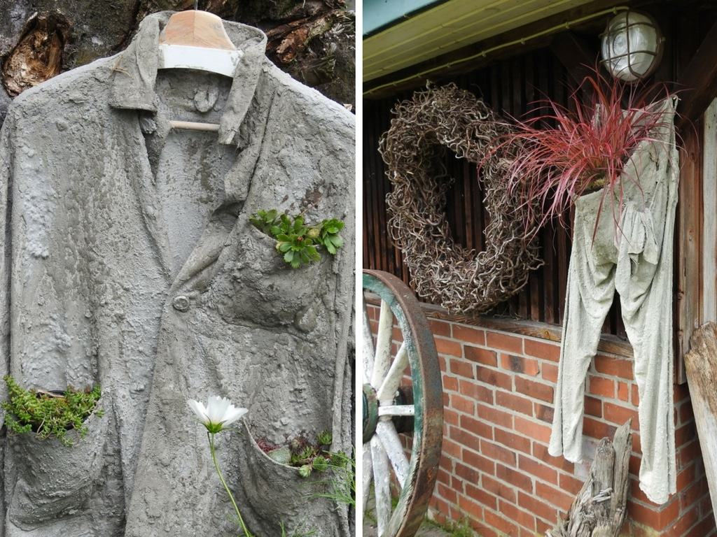 """""""Beton""""-Textilien - bepflanzt - eine Idee von Margret Matthias aus Selsingen"""