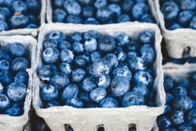 Verkaufsfertige Blaubeeren in Pappschalen, Foto: Unsplash.com