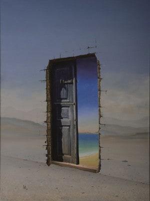 Gemälde Blaue Tür von Hubertus von Löbbecke