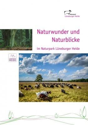 Titel der neuen Broschüre Naturwunder und Naturblicke im Naturpark Lüneburger Heide