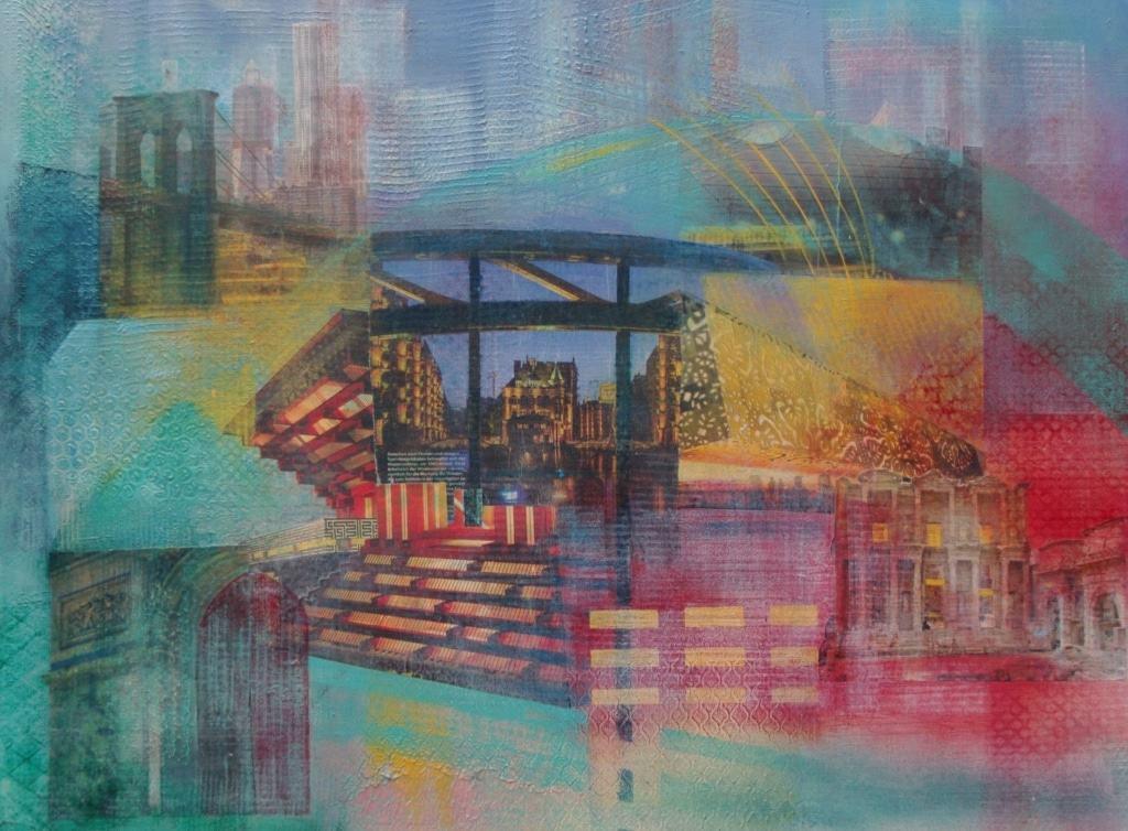"""""""Brücke 5"""" Gemälde von Hanna Malzahn"""